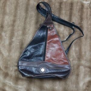 Vintage backpack leather